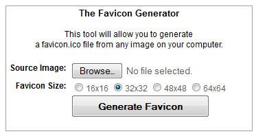 the favicon Generator