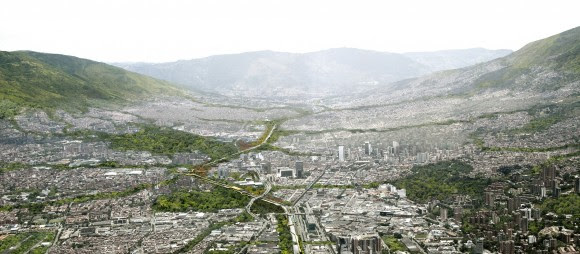 Parques del Río Medellín, vista aérea.