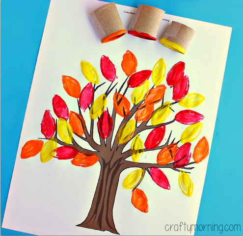 fall-tree-craft-for-kids-using-a-toilet-paper-roll