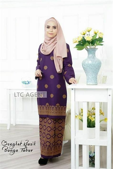 baju kurung moden songket bunga tabur batch ii  sold