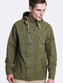 Lyle & Scott Camouflage Print Hooded Parka