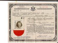 Us naturalization certificate