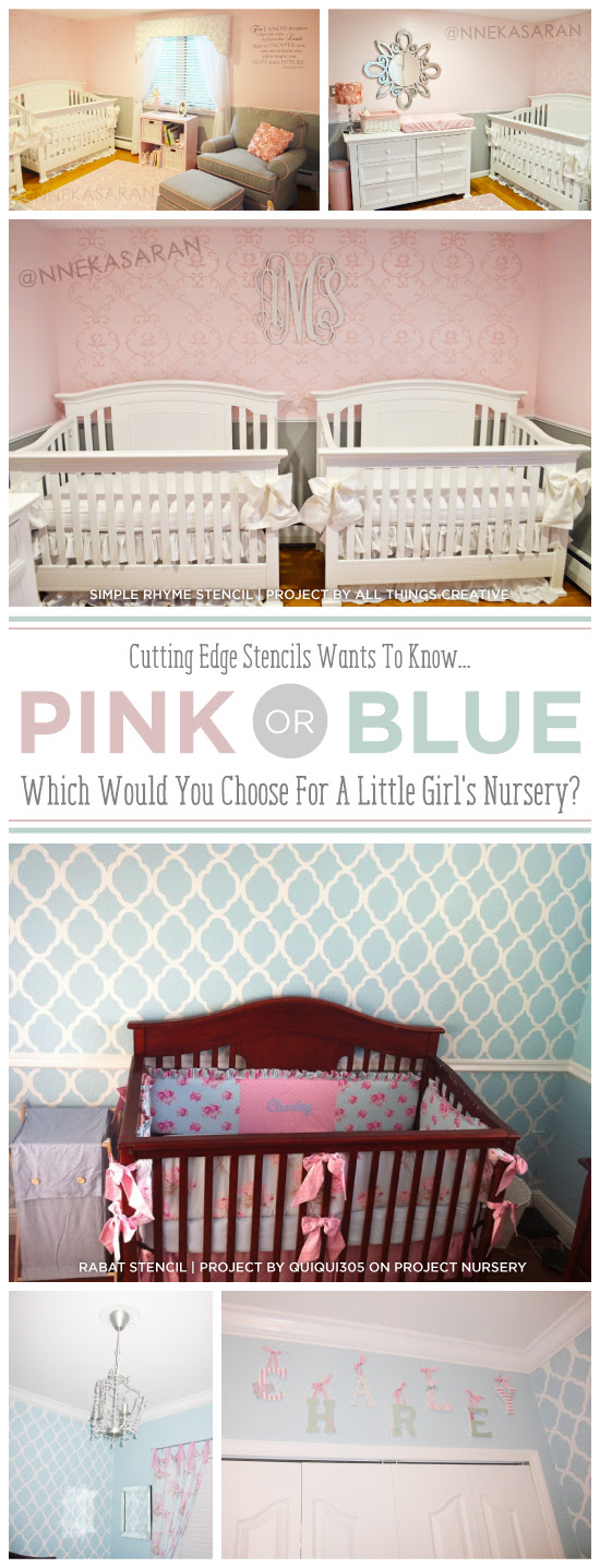 Pink Or Blue Which Would You Choose For A Little Girls Nursery