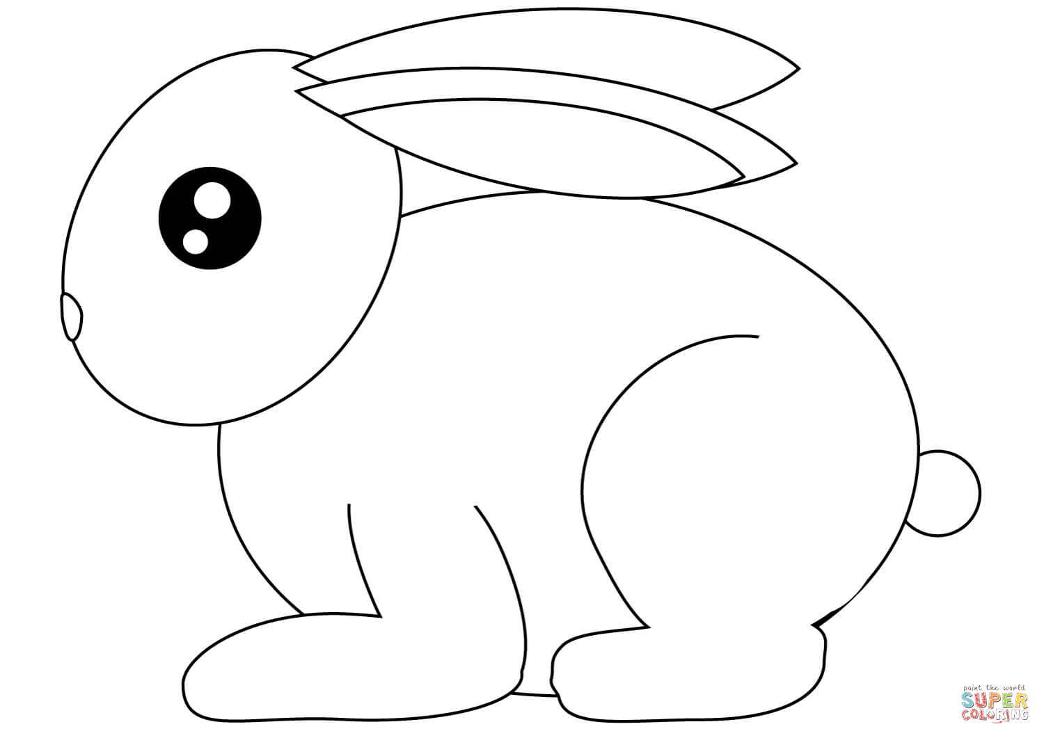 Small Rabbit coloring page | Free Printable Coloring Pages