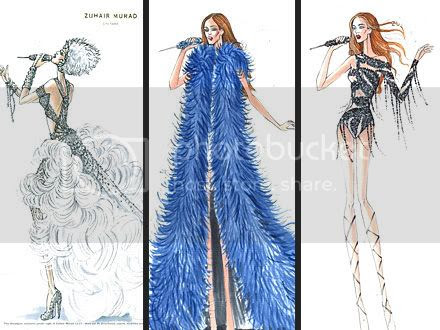 Jennifer Lopez's Tour Costumes by Zuhair Murad