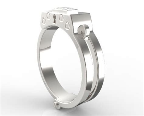 Men's Handcuff Wedding Band   Vidar Jewelry   Unique