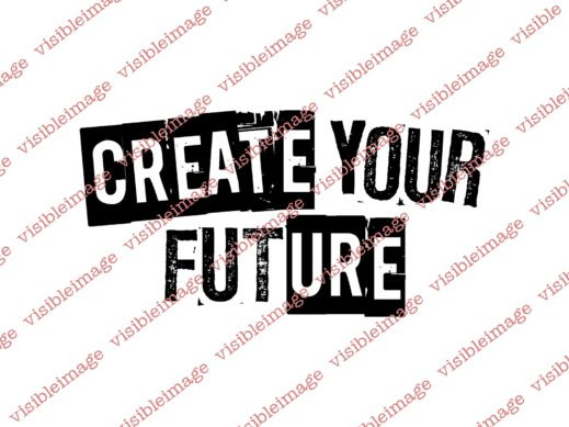 Visible Image Create Your Future stamp