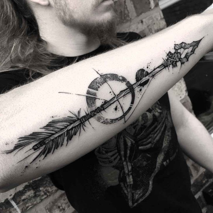 Stone Arrow Tattoo On Forearm Best Tattoo Ideas Gallery