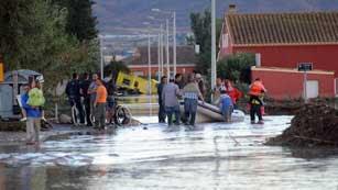 Ver vídeo  'En la comarca del río Guadalentín caen hasta 177 litros por metro cuadrado'