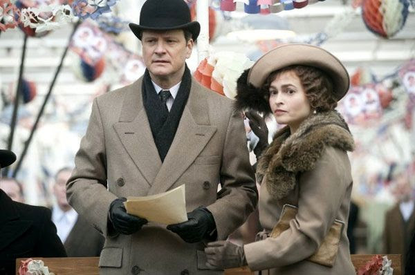 Colin Firth and Helena Bonham Carter in THE KING'S SPEECH.