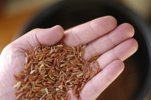 ruby-red jasmine rice