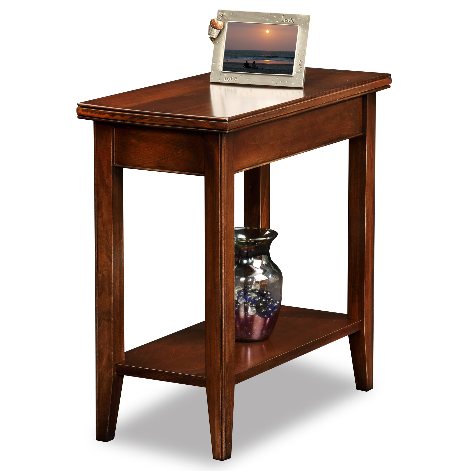 Leick Laurent Narrow Chairside Solid Wood End Table - Home ...