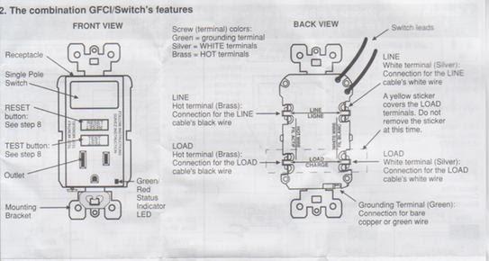 Wiring Diagram For Leviton Bination Switch Gfci