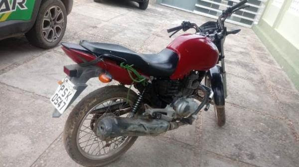 PM recupera motocicleta roubada em Barão de Grajaú.(Imagem:FlorianoNews)