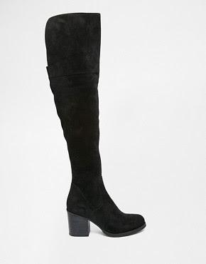 Botas por encima de la rodilla con tacón en negro Octagon de Steve Madden