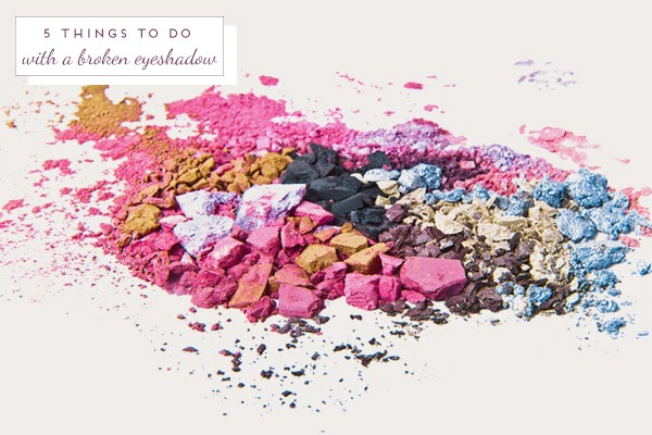 5 Things to do with a broken eyeshadow