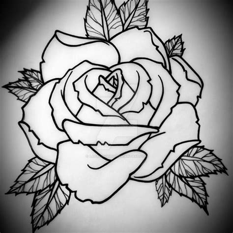 horizontal rose tattoo design ladyknight deviantart