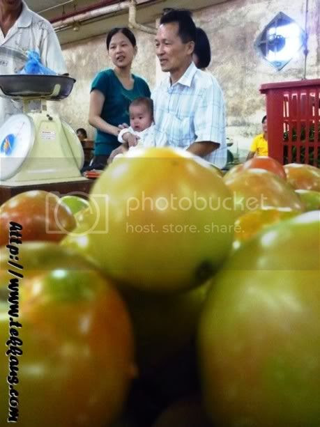 Visiting Grandpa In Morning Market
