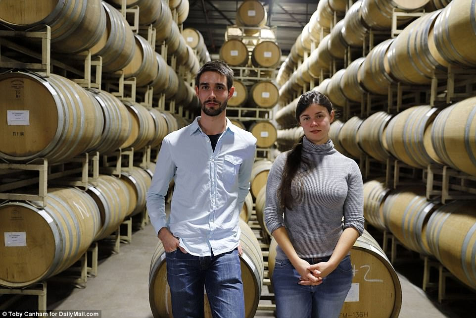 Alan Ramey, 25, and his sister, Claire Ramey, 27, are part of a family-run winery which buys some of its grapes from nearby vineyards. Property on their winery has been destroyed, though it's too soon to tell just how bad the damage is because fires are still raging