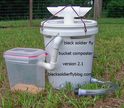 Homemade Black Soldier Fly Bins