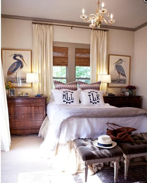 Bedroom by Meg Lonergan of LeSueur Interiors | Houston, TX