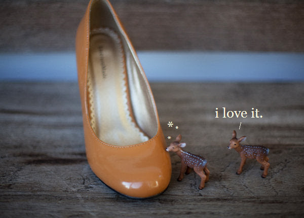 EM Pumpkin Patent Heels - end of the ends!