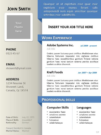 Download Template Cv Kreatif Word - Contoh Gambar Template