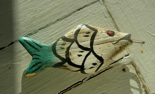 Little wooden fish