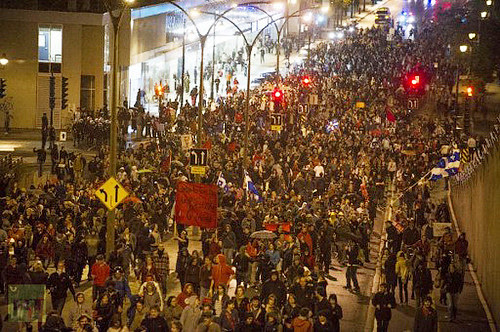 Thousands of students demonstrate in Montreal over tuition hikes. The students have engaged in a strike for months. by Pan-African News Wire File Photos