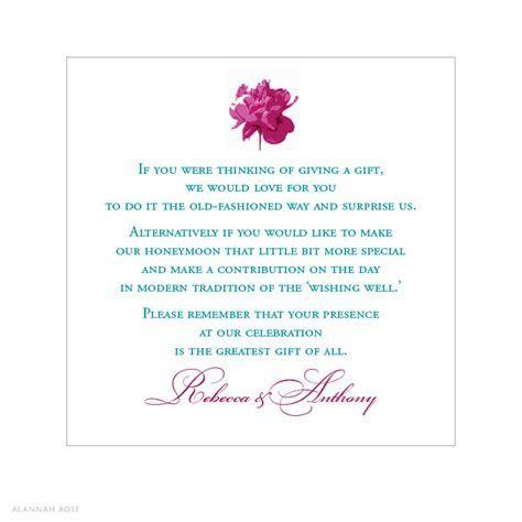 Peony Pop Gift Registry Card   Alannah Rose