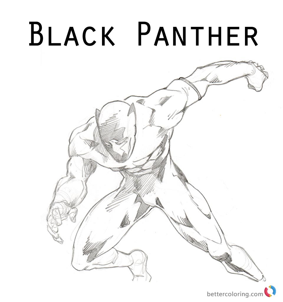 Lego Black Panther Coloring Pages