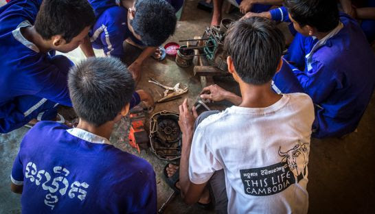 Youths in Siem Reap provincial prison undergo vocational skills training. This Life Cambodia