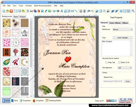Wedding Card Maker Software screenshots   how to generate