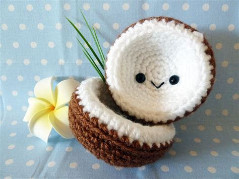Tropical Island and Coconut Amigurumi