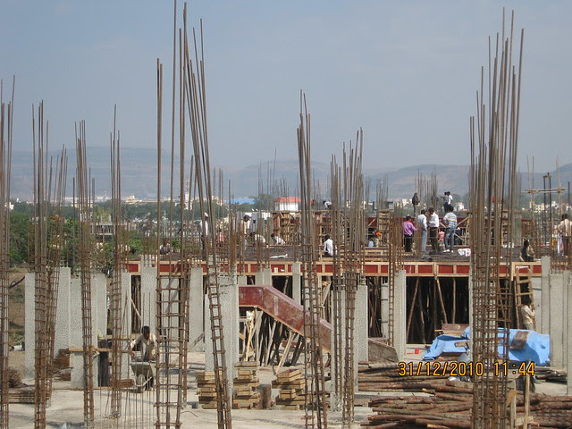 Under construction A 1 to A 9 Buildings in Leela Greens Row Houses & Twin Bungalows in Talegaon Dabhade Pune 410 506