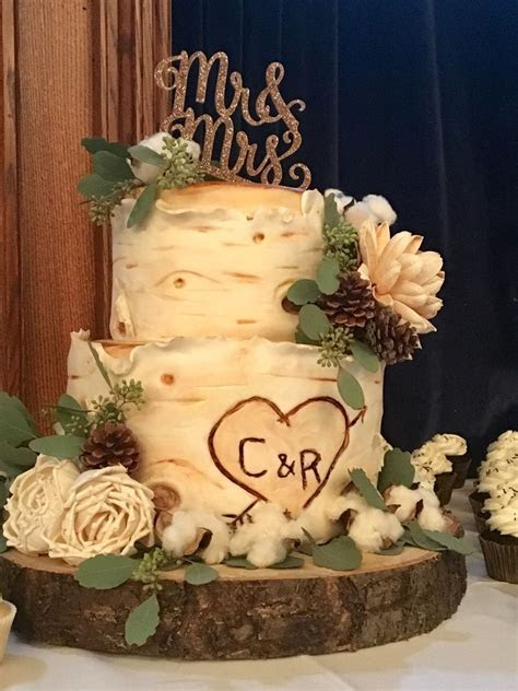 White Birch Wedding Cake   CakeCentral.com