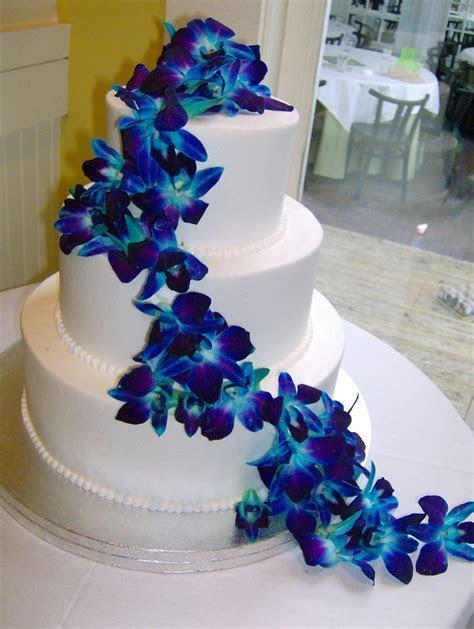 blue dendrobium orchid cake   June Wedding!   Pinterest