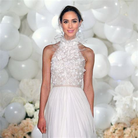 Meghan Markle talks about her wedding dress for the first