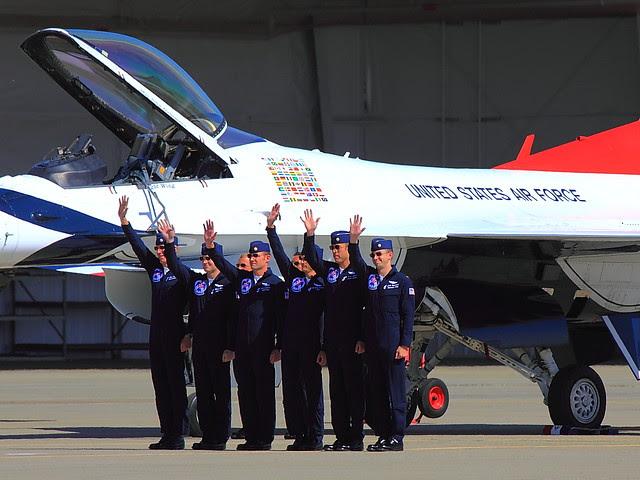 IMG_4700 Thunderbirds Pilots, Beale AFB Air Show, CA