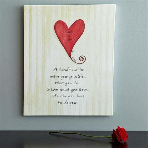 Heart Wedding Canvas   Homemade anniversary gifts, Diy