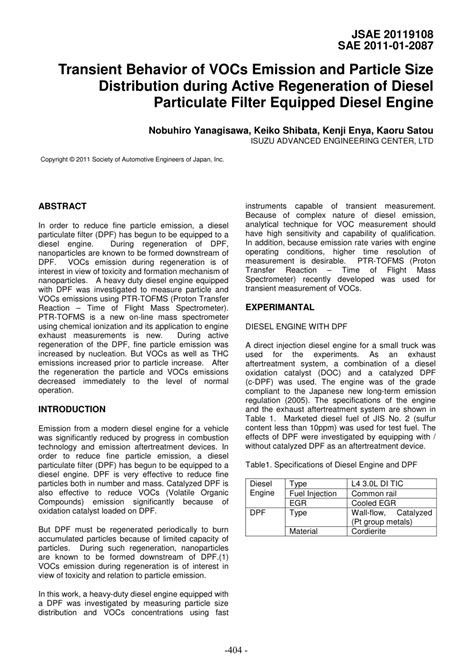 (PDF) Transient Behavior of VOCs Emission and Particle