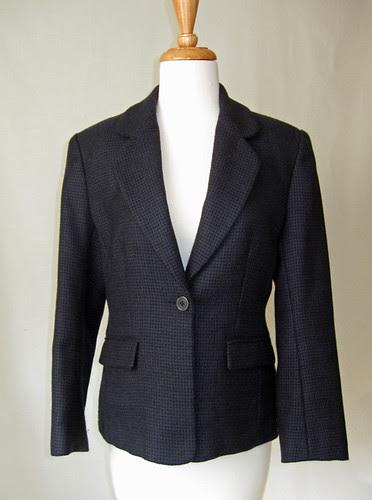 Blueblack wool jacket V2853