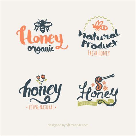 honey logos design vector
