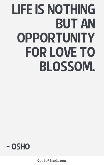 Love Quotes Life Is Nothing But An Opportunity For Love