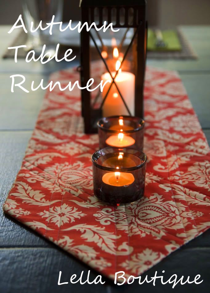 Lella Boutique: Autumn Table Runner Tutorial