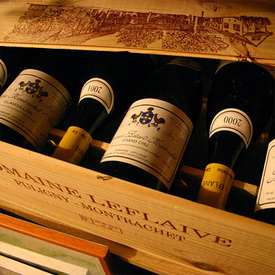 Leflaive's Bienvenues Bâtard-Montrachet still in the cellar