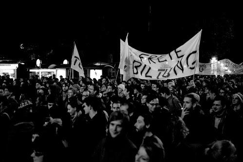 #unibrennt - Demonstration