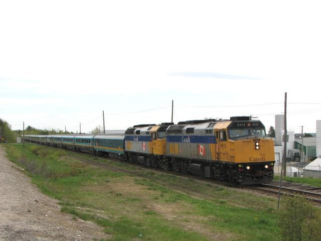 VIA 6431 arriving at Miramichi