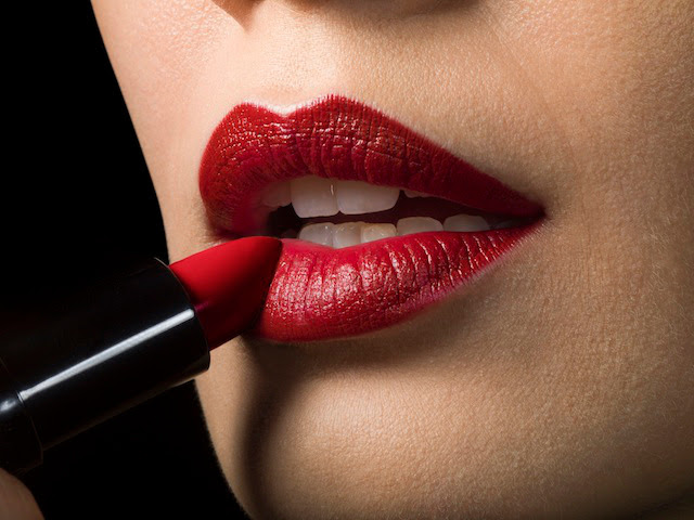 Lipstick on the lips