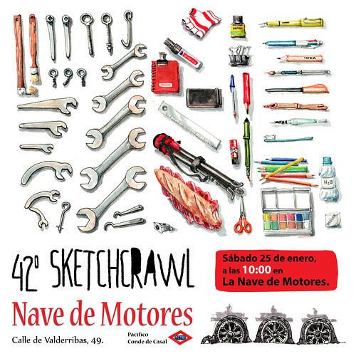 42º SketchCrawl, Madrid by aidibus